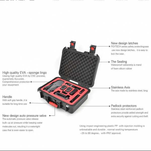 Mavic Pro - Hardcase Koffer PGY IP67 Wasserdicht