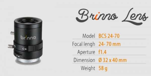 Brinno Objektiv BCS 24-70 (Linse zu TLC200 Pro)