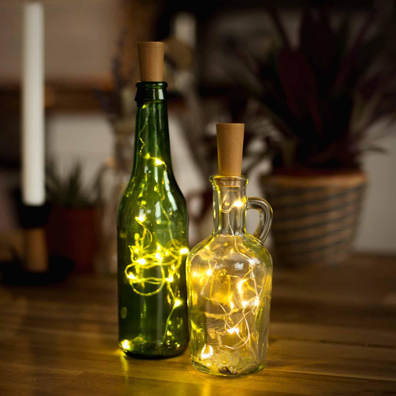 led korkenlichterkette deko dekoration licht leuchte weinflasche. Black Bedroom Furniture Sets. Home Design Ideas