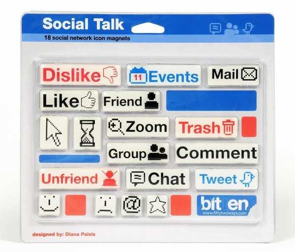 Socialmedia Kühlschrankmagente