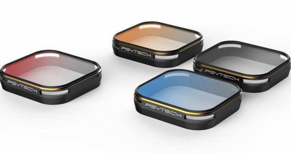 Farb-Filterset für GoPro 5 (Grau, Blau, Orange, Rot)