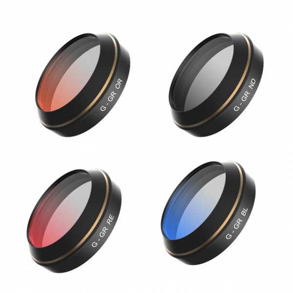 Spezial-Farbfilterset für DJI Mavic Pro (Rot, Blau, Orange, Grau)