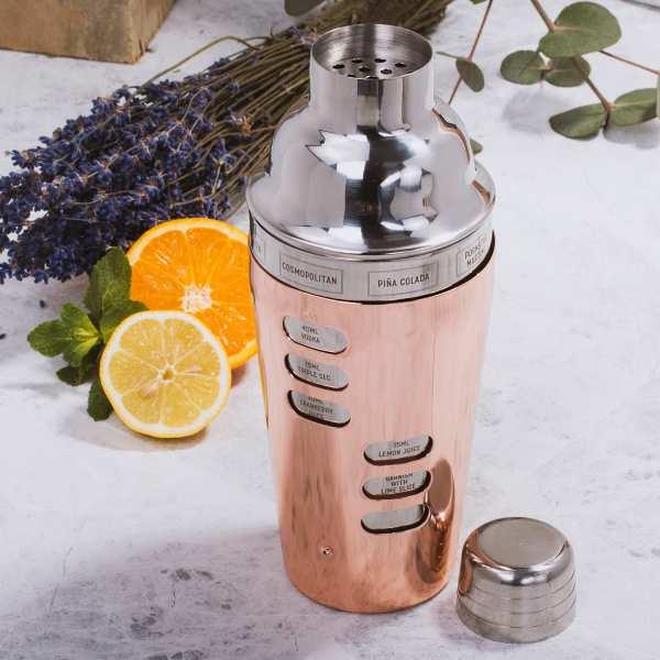 Design Cocktail Shaker (mit Rezeptauswahl)