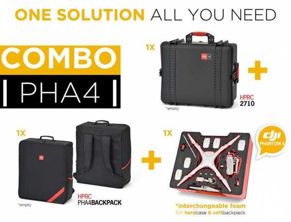 Premium Koffer plus Rucksack Combo für DJI Phantom 4