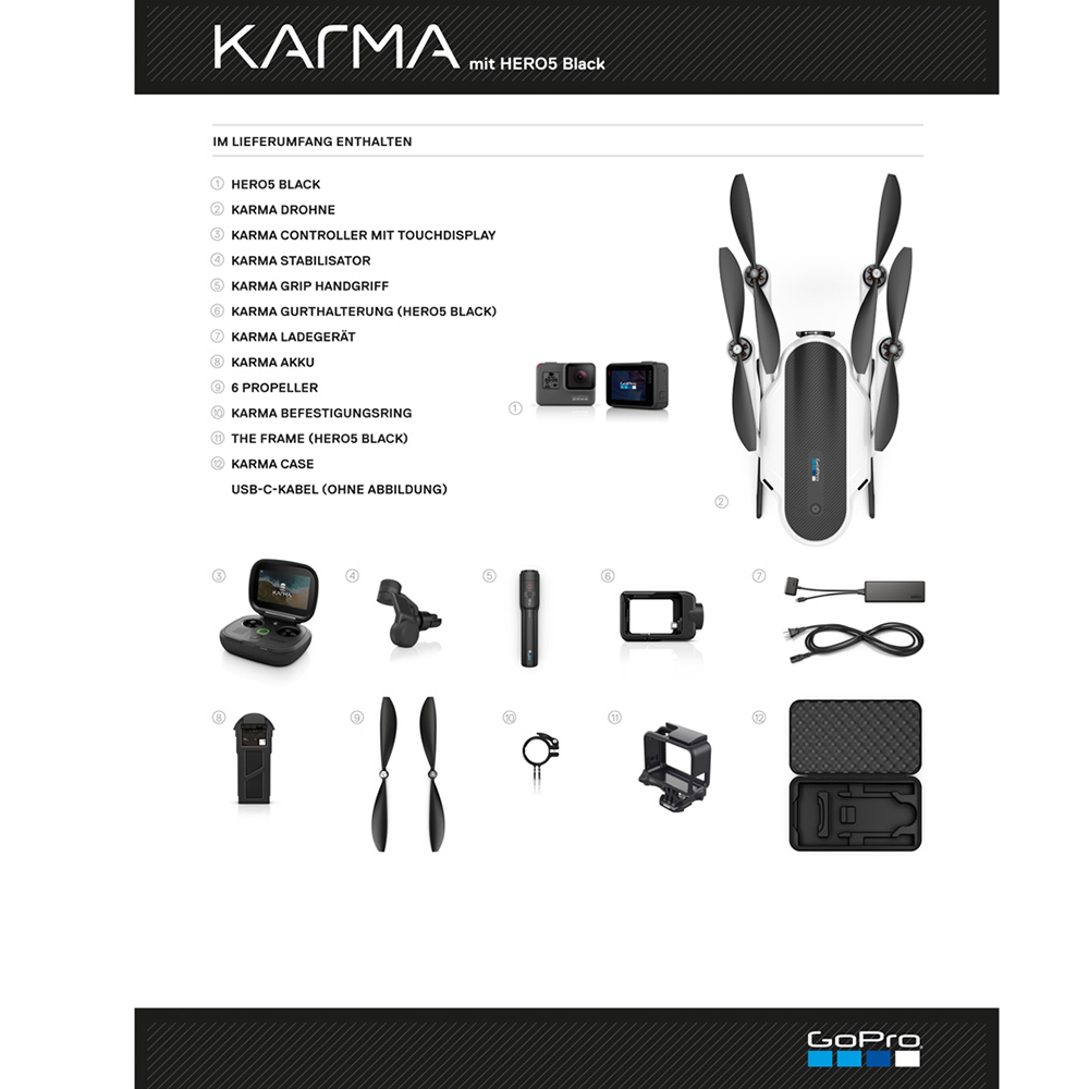 GoPro-Karma-Hero5-Lieferumfang