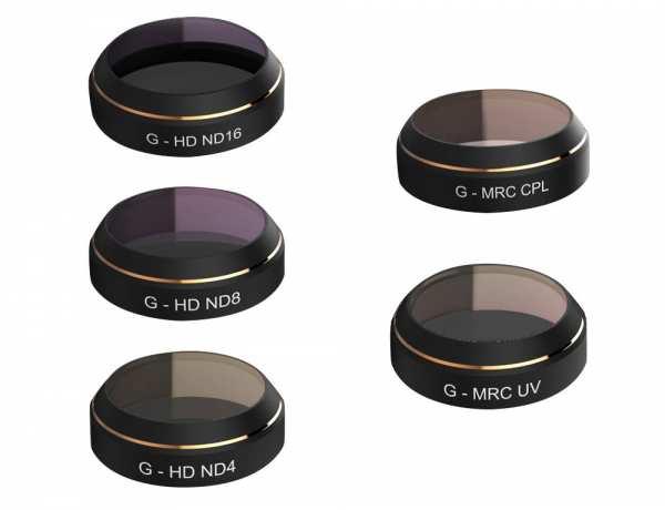 Filterset für DJI Mavic Pro (UV, ND4, ND8, ND16, CPL)