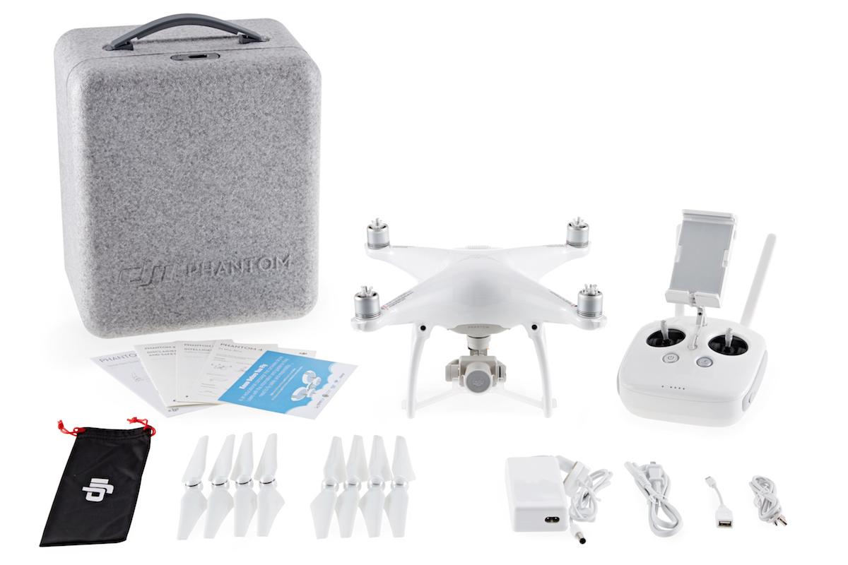 DJI Phantom 4 GPS Quadrokopter Komplettset