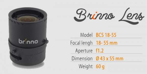 Brinno Objektiv BCS 18-55 (Linse zu TLC200 Pro)