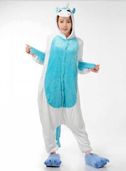 Einhorn Pyjama Homedress Einteiler