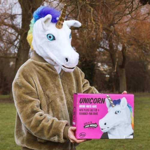 Mr. Unicorn - Einhorn Maske mit beweglichem Mund