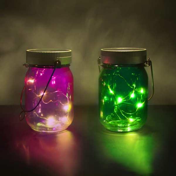 Solar Stimmungslichter - Fairy Jars (2er Pack)