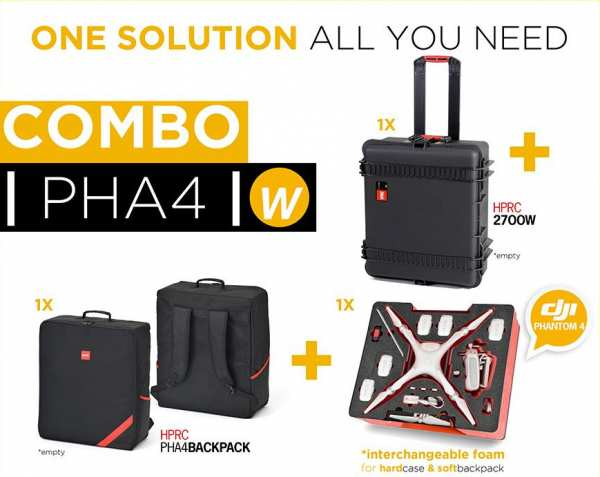 Premium Rollkoffer plus Rucksack Combo für DJI Phantom 4